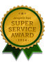 Winner of Angie's List 2014 Super Service Award