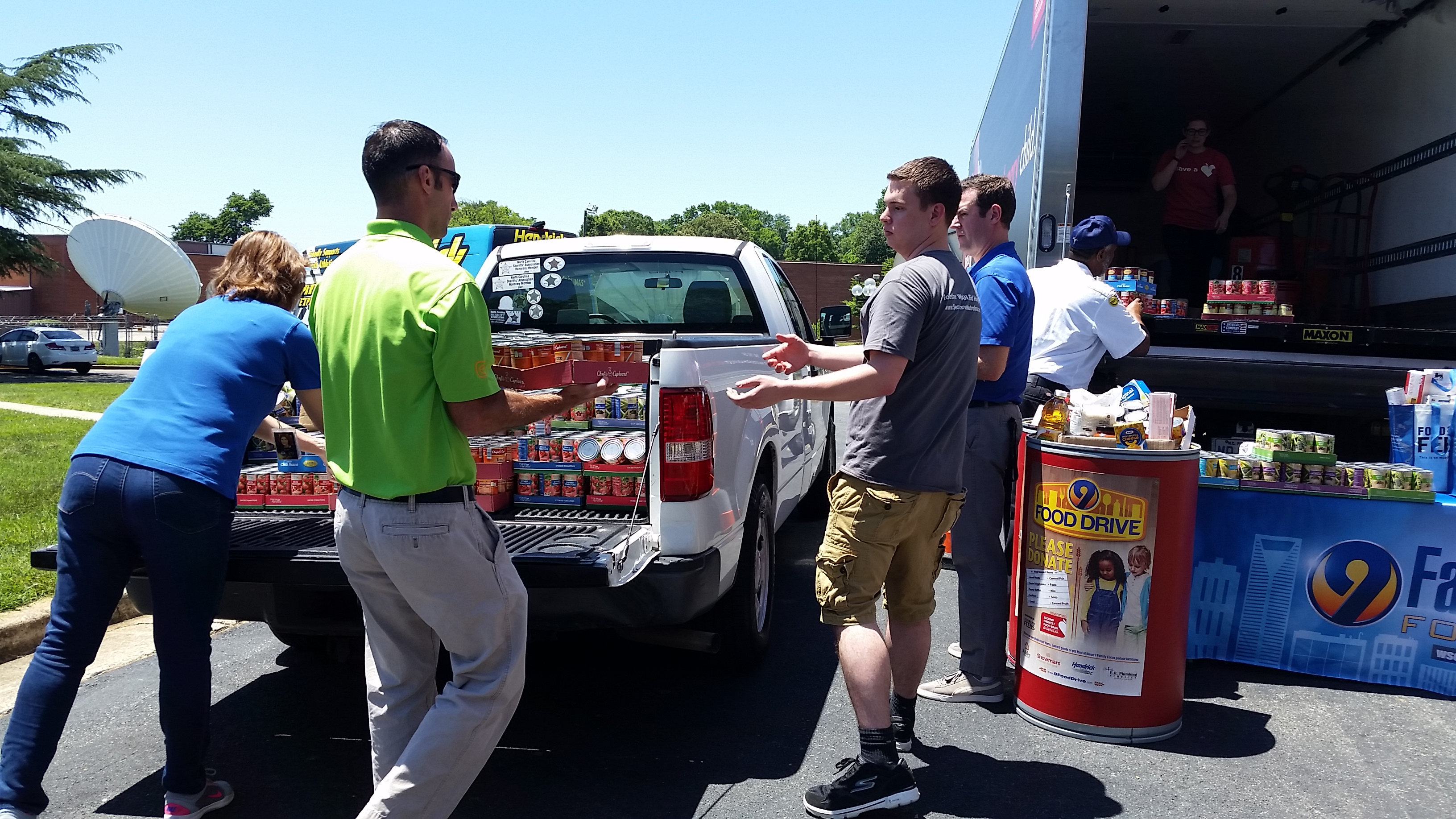 ERP 2016 Channel 9 Food Drive Loading Truck