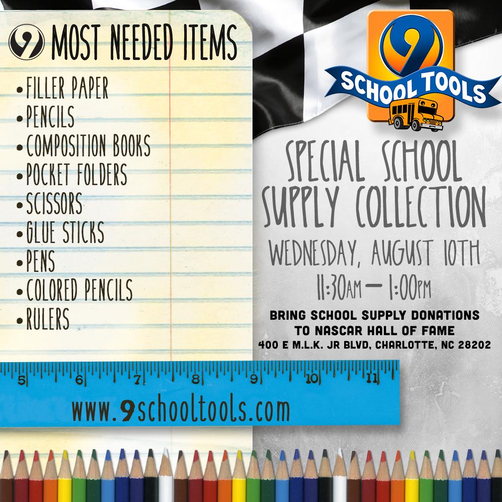 charlotte plumber school supplies donation drive