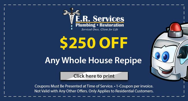 Coupon 250 Off Whole House Repipe Charlotte